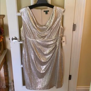 Ralph Lauren Holiday Dress Silver.